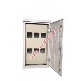 Vỏ tủ lắp 02 mặt Composite Outdoor Ép Nóng SMC (Mặt trước lắp 06-09 ĐK - Mặt sau lắp MCCB)